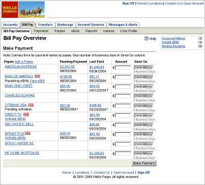 Wells Fargo Bills Pay Overview