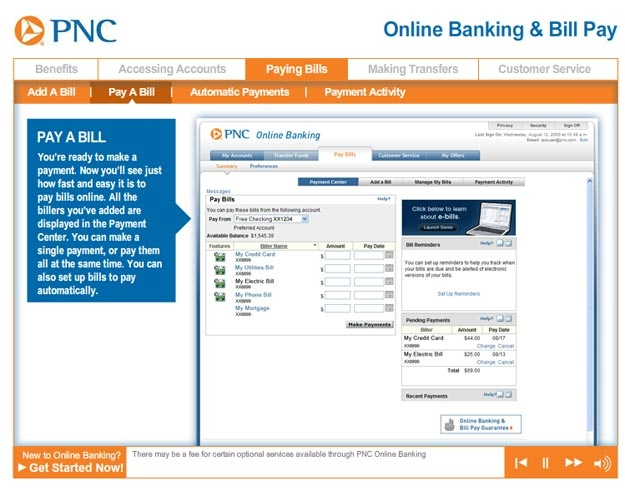 Online Bill Pay By Pnc