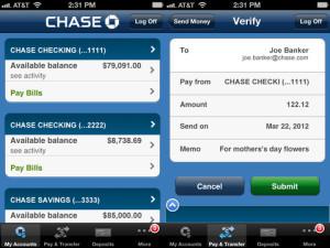 chase mobile banking log on